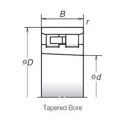 220 mm x 300 mm x 60 mm  NSK NN3944MBKR Rolamentos de esferas de impulso angular de duas direcções