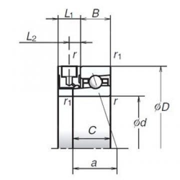100 mm x 140 mm x 20 mm  NSK 100BNR19XE Rolamentos de esferas de impulso angular 2A-BST