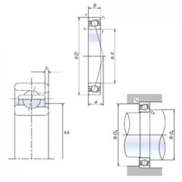 40 mm x 68 mm x 15 mm  NSK 40BER10X Rolamentos de esferas de impulso angular de duas direcções