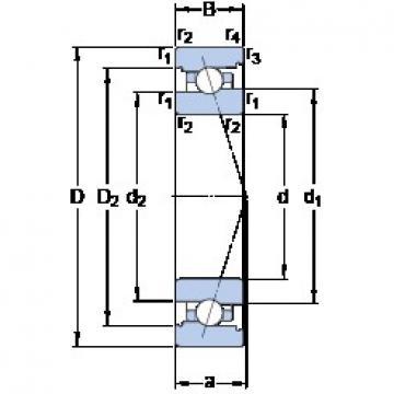 50 mm x 72 mm x 12 mm  SKF 71910 ACB/HCP4A Rolamentos de esferas de contacto angular para motores e tornos