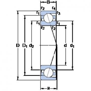 160 mm x 220 mm x 28 mm  SKF 71932 ACD/HCP4A Rolamentos de esferas de contacto angular para motores e tornos