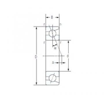 12 mm x 32 mm x 10 mm  NACHI 7201C Rolamentos de esferas de contacto angular para motores e tornos