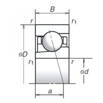 10 mm x 22 mm x 6 mm  NSK 10BGR19X Rolamentos de esferas de contacto angular selados com lubrificação de gorduras