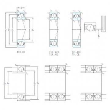 15 mm x 28 mm x 7 mm  SKF 71902 CE/P4A Rolamentos de esferas de contacto angular para motores e tornos