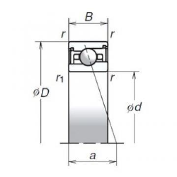 100 mm x 140 mm x 24 mm  NSK 100BNR29XV1V Rolamentos de esferas de impulso angular de duas direcções