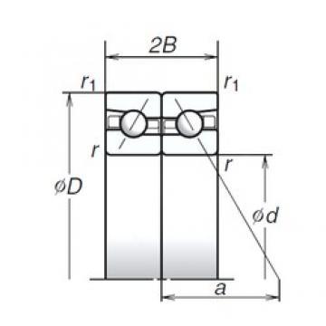 130 mm x 200 mm x 31,5 mm  NSK 130BTR10H Rolamentos de esferas de contacto angular selados com lubrificação de gorduras