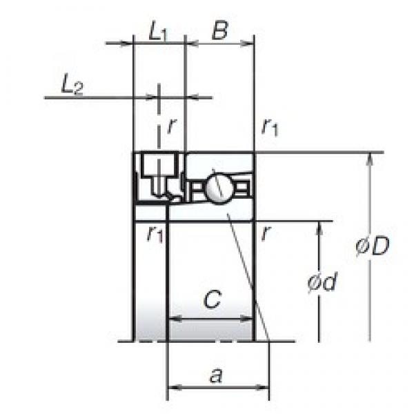 65 mm x 90 mm x 13 mm  NSK 65BNR19XE Rolamentos de esferas de contacto angular para motores e tornos #2 image