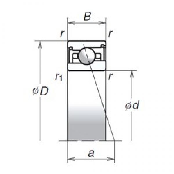 30 mm x 47 mm x 11 mm  NSK 30BNR29HV1V Rolamentos de esferas de contacto angular para motores e tornos #2 image