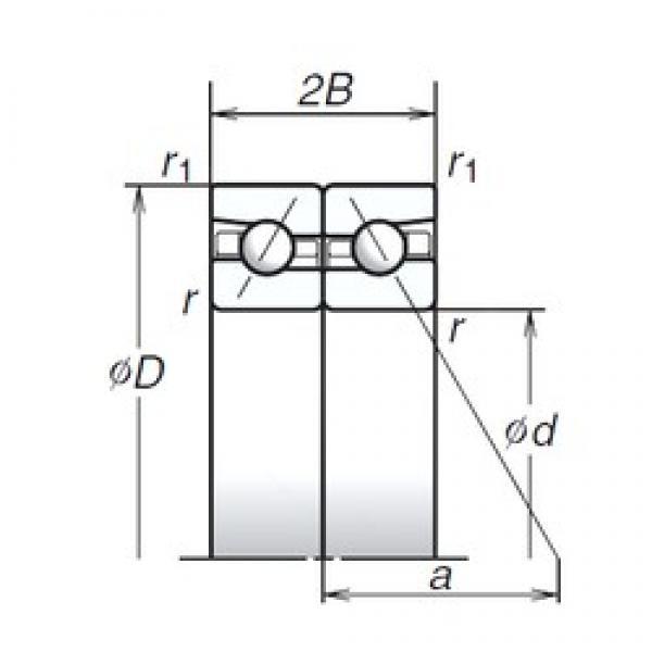 140 mm x 210 mm x 31,5 mm  NSK 140BTR10S Rolamentos de esferas de contacto angular para motores e tornos #2 image